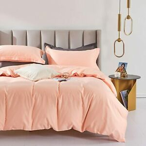 SOULFUL Pale Pink 100% Long Staple Cotton Bedding King Size Hotel Quality BoxA