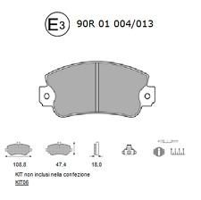 Pastiglie Freno Anteriore AUTOBIANCHI Y10-FIAT PANDA (141_-141A_)-LANCIA Y10 156