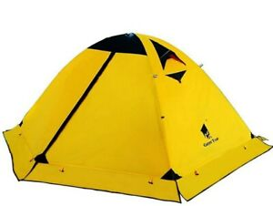 GEERTOP Ultralight 2 Man Tents For Camping Hiking Waterproof Double Layer Yellow