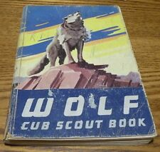1958 vintage copy of WOLF CUB SCOUT BOOK from the Boy Scouts Of America