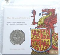 2018 Royal Mint Queens Beasts Red Dragon of Wales £5 Five Pound Coin Pack