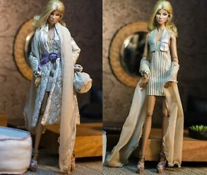 fashion royalty outfit fr2   dollsalive ΅White chocolate   OOAK outfit, shoes