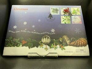2001 Post Box BB Christmas Isle of Man 50p Fifty Pence FDC PNC Coin Cover
