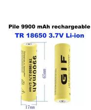 2x Batterie pile accu lithium rechargeable 18650 9900 mAh 3.7V Li-ion