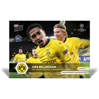 JUDE BELLINGHAM Youngest English goalscorer in UCL history UCL TOPPS NOW BVB RC