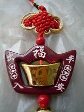 "Hanging Gold Ingot ""Yuen Bao"" Ancient Chinese Money Feng Shui Wealth Fortune"
