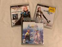 Lot of 3 Playstation 3 Games (PS3): Three Final Fantasy Games