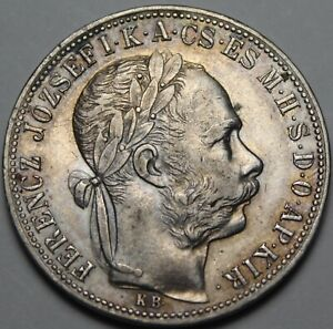 Hungary Forint, 1885 Silver~Excellent