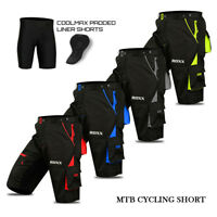 MTB Cycling Shorts Off Road Bicycle With CoolMax Padded Liner Shorts ROXX Sports