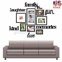 US Family Photo Frame Picture Home Hanging Wall Collage Decor Sticker Wedding