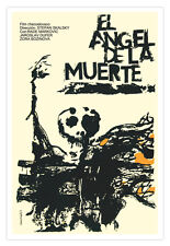Cuban Graphic Design movie Poster 4 Death ANGEL.Halloween Horror.Room Décor art