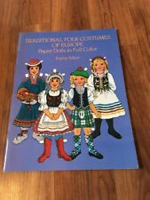 New Uncut 1983 Traditional Folk Costumes Of Europe By Kathy Allert