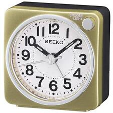 Seiko QHE118G Antique barrido de segunda mano de Cabecera Pitido Despertador-Dorado/Blanco