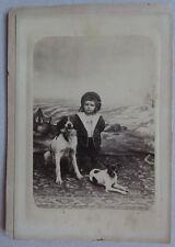 Photo Au Citrate Chien Dog Animal Brest Vers 1880