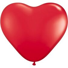 """10 Pack RED 6"""" HEART SHAPED BALLOON Latex Party Valentines Day Gift I Love You"""