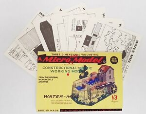 Micromodels Set WM Constructional Working Water- Mill Micro New Models card kit