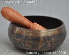Tibetan Buddhism bronze copper Boxwood Praying Zijin bowl Glenoid Pots statue