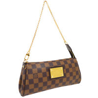 LOUIS VUITTON EVA 2WAY CHAIN HAND BAG POUCH AA1102 PURSE DAMIER N55213 40578