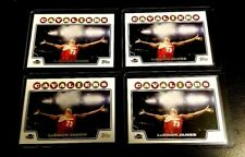 LEBRON JAMES 2008/09 TOPPS LOT OF 4 #23 LAKERS CAVALIERS