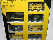 K-Line O RDG Reading Plymouth Switcher Locomotive 6 Ore Car Train Set NOS 1415