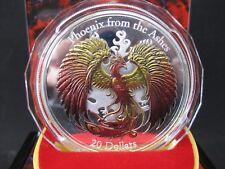 20 Dollar Phoenix Ashes Silber Silver 2015 3 Oz Cook Island Box Farbmünze