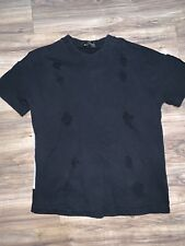 Damir Doma Shredded Terry Shirt Size 46 Back Pocket And Screen print