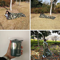 Camouflage Waterproof Reusable Emergency Sleeping Bag Thermal Survival Camping·