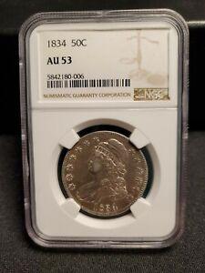 1834 Capped Bust Half Dollar NGC AU53