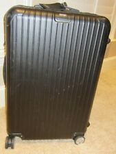 "nice Rimowa Salsa 28"" Black Suitcase Spinner Germany ~28x17x10 + Divider + Tag"