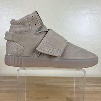 Adidas Tubular Invader Strap Sneakers Mens Size 10.5 Linen Khaki