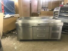 Randell 72� T Line Refrigerated Prep Station Stainless Cooler Used
