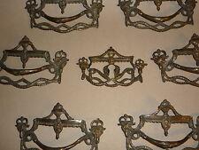 6 barocke Handhaben+ 1 Schild Barockkommode Dresden Sachsen baroque handling