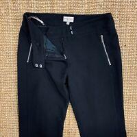 Women's KAREN MILLEN Smart Work Suit Trousers Black Size UK10 W30 L32 IMMACULATE