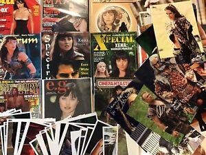 Huge Lot Xena Warrior Princess Photos Magazines 79 8x10 Pics! 3 Signed! 12 Mags!