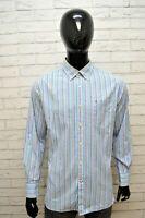 TOMMY HILFIGER Uomo Camicia Taglia L Maglia Manica Lunga Camicetta Shirt Quadri