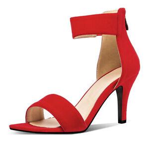Women's Gladiator Plus Size Leopard Strappy High Heel Club Wedding Sandals Shoes