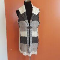 BKE the buckle knit crochet detail BOHO knit vest women's size Medium