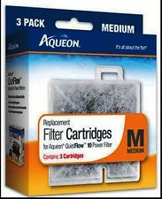 AQUEON FILTER CARTRIDGE MEDIUM 3 Pack FOR QUIET FLOW 10 Power Filter