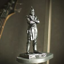 Elder Scrolls Skyrim Hold Guard Statue Aged Silver Stylization
