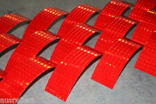 T-6508 RED Reflective Tape - Reflective Strips - HiVis Tape - 20cm Strips