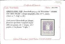 GROENLANDIA PAKKE PARCEL PACCHI 70 ORE UNIFICATO NR. 10