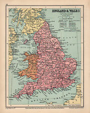 1934 MAP ~ ENGLAND & WALES ~ SHOWING RAILWAYS