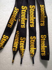 "Pittsburgh Steelers 45"" Shoelaces Black/Gold Official NFL Licensed Item"
