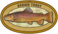 Brown Trout sticker waterproof fish decal GUARANTEE 3 years no fade