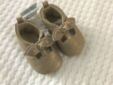 0-3 Months Baby Girls' Gold Moccasin Shoes - Just One You - NEW WITH TAGS!