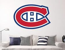 Montreal Canadiens NHL Atlantico Wall  Decal Sports Hockey Sticker Vinyl Decor