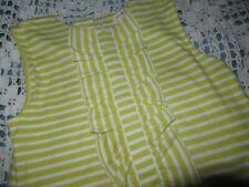 nwot Olive Juice chartruese ruffle shift dress girl 8  free ship USA