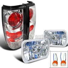 For 1982-1993 S10/ 1983-1990 S15 Sonoma 7x6 Projector Headlights+Tail Lights