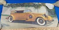 1934 Packard Car Antique Auto Poster Sign Litho Art Print Advertising VTG 23.5x