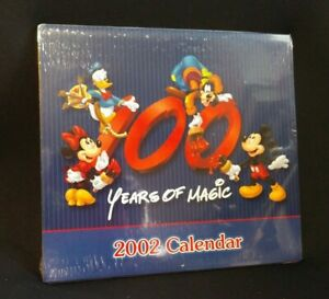 Disney 100 Years of Magic Vintage 2002 Calendar New Sealed